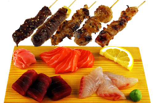Brochette et poisson
