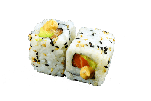 California saumon avocat épice