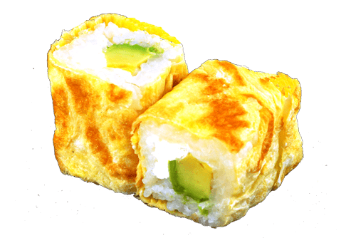 Egg roll avocat fromage