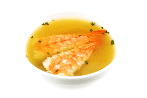 Soupe miso crevette