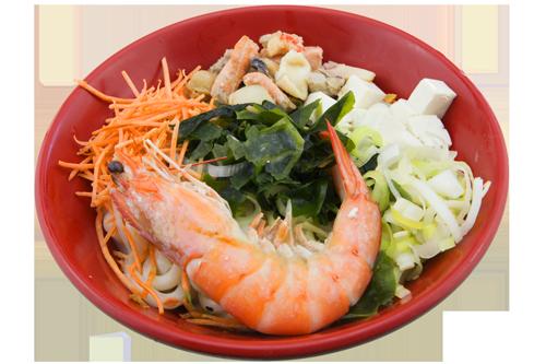 Soupe de nouilles aux fruits de mer