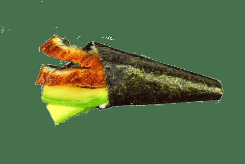 Themaki anguille avocat